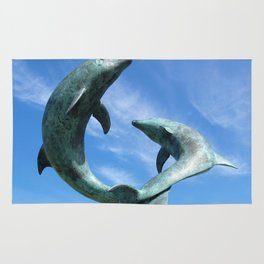 Leaping Tresco Dolphins Rug