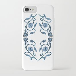 Blue Paisley Double Heart 1 iPhone Case