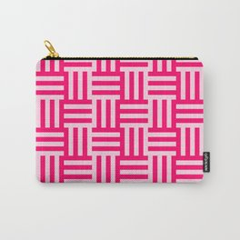 pink modern line pattern Carry-All Pouch