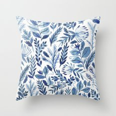 indigo scatter Throw Pillow
