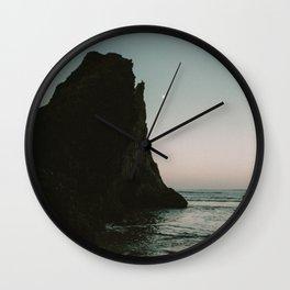 Oregon Coast Dark Ocean Wall Clock