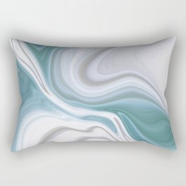 Liquid Blues Rectangular Pillow