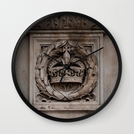 Marble-ous Crown Carved Crown Near Buckingham Palace London England Wall Clock