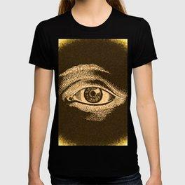 Grunge Vintage Eye Pattern Industrial T-shirt