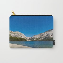 Landscape of a lake with mountains in CA. Carry-All Pouch