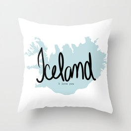 Iceland love Throw Pillow