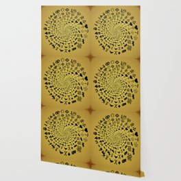 Mandala of Love Symbols from Ancient Cultures on Papyrus Wallpaper