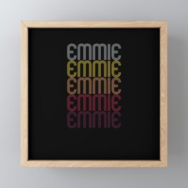 Emmie Name Gift Personalized First Name Framed Mini Art Print