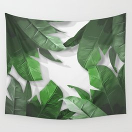Tropical Palm Print Shadows Wall Tapestry