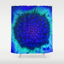 Blue Florentine Shower Curtain