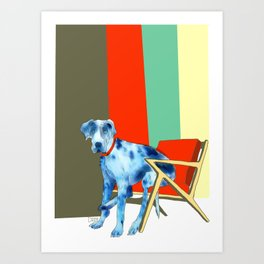 Great Dane in Chair #1 Art Print
