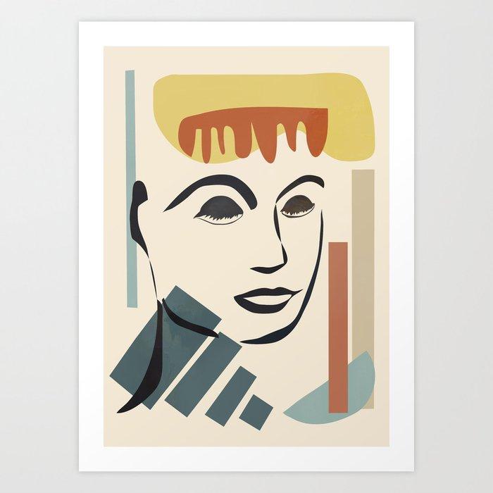 Abstract Face III Art Print