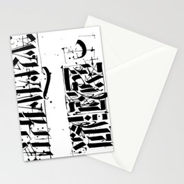 CALLIGRAPHY N°4 ZV Stationery Cards