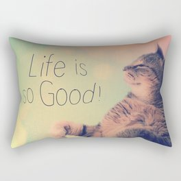 Dancing Kitty Cat Rectangular Pillow