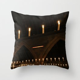 Christmas Candle Magic Throw Pillow