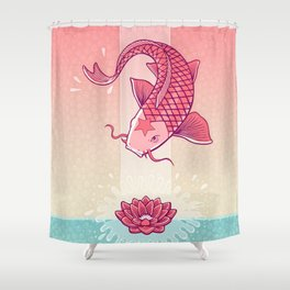 Perseverance // Koi & Lotus Shower Curtain