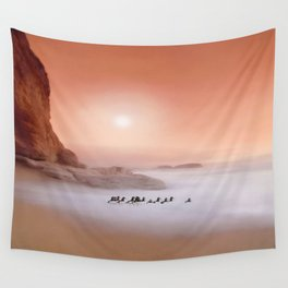 Peachy Morning Wall Tapestry