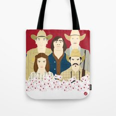 The Country Of Living Dangerously (Faces & Movies) Tote Bag