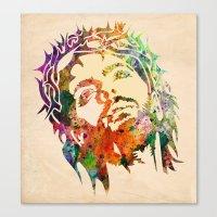 jesus Canvas Prints featuring JESUS  by mark ashkenazi