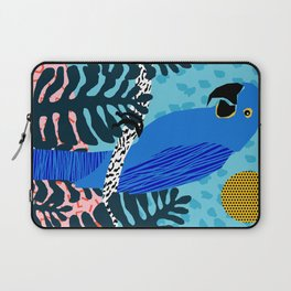 Steaz - memphis throwback tropical retro minimal bird art 1980s 80s style pattern parrot fashion Laptop Sleeve