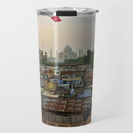 Let's go fly a kite/On the rooftops of Agra Travel Mug