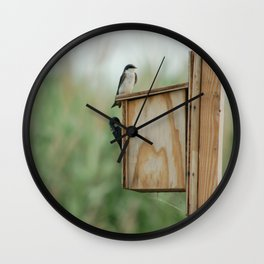 Birds at New Jersey Meadowlands Nature Preserve Wall Clock