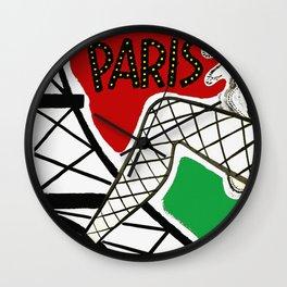Vintage Paris France Travel Wall Clock