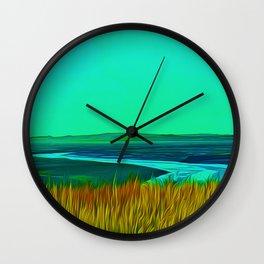 River Alt (Digital Art) Wall Clock