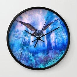 Owl flight Wall Clock