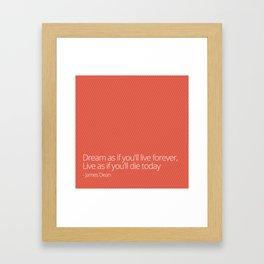 Live Forever Framed Art Print