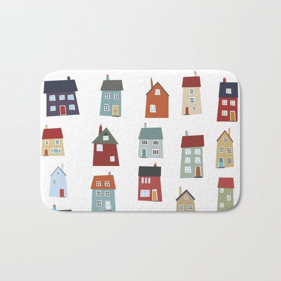 Little Houses Bath Mat