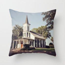 Bluff Chapel Throw Pillow