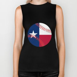 Texas Flag Baseball Biker Tank