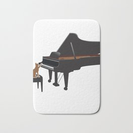 Great Gift For Piano And Cat Lover. Shirt Ideas Bath Mat
