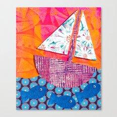 Sailing the Sea Canvas Print
