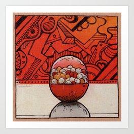 PILL BALL Art Print