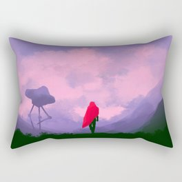 Anomaly in Hue Rectangular Pillow