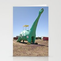 dino Stationery Cards featuring dino by Natalie Jeffcott