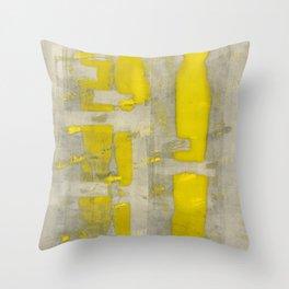 Stasis Gray & Gold 4 Throw Pillow