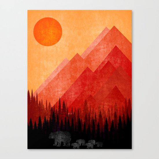 Bears road trip Canvas Print
