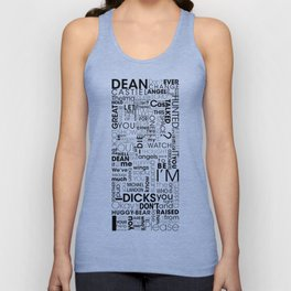 Put wings to your words (Destiel) A Unisex Tank Top