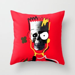 No.1 - Beauty isn't only skin deep / b-ART / RED Throw Pillow