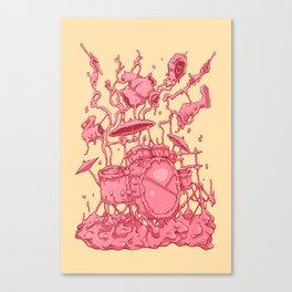 Bubble Drummer Canvas Print