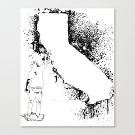 Cali wal tagger Outline Canvas Print