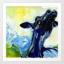 mad cow Art Print