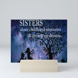 Sisters Quote Mini Art Print