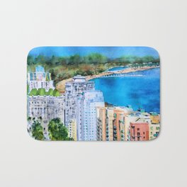 The Beauty of Long Beach from Above Bath Mat