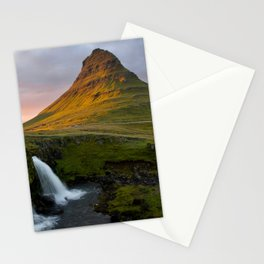 Kirkjufell at Sunset Stationery Cards