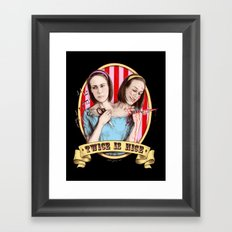 Tattler Twins (color) Framed Art Print