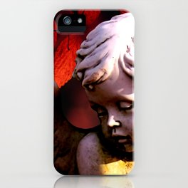 Little Angel Cherub Child Autumn Tree Spiritual A317 iPhone Case